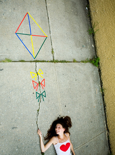 a kite in the cracks