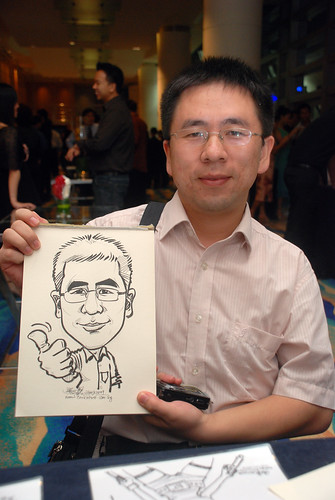 Caricature live sketching for SMC Teachers'Day D&D 2009 - 8
