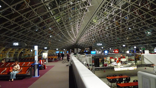 At the Paris-Charles de Gaulle Airport