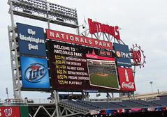 National's Park Scoreboard