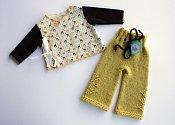 'Chocolate Ice Giraffes' Set - embellished longies & wrap shirt - newborn