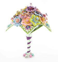 CandyBouquet16 (jamball) Tags: weddingbouquet floralbouquet buttonbouquet greenwedding unusualbouquet weddingalternative feltbouquet recycledwedding