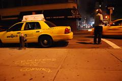 Crackhead Jesus New York City taxi (maverick artist) Tags: new york city jesus jr victor hugo vaca crackhead