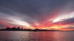 Sunset from Treasure Island (KayVee.INC) Tags: ocean sf sanfrancisco california ca sunset water clouds island bay cityscape treasure treasureisland widescreen 2009 sfist cavey timf sooc kayvee treasureislandmusicfestival 171009 kayveeinc
