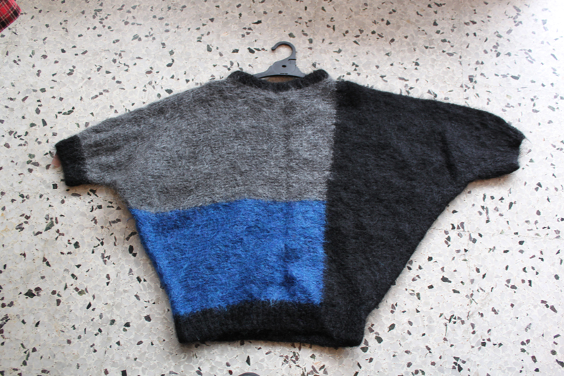 black, grey, blue batwing knit $9