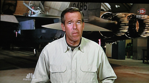 Brian Williams Gets Down with an F-15 Eagle at Bagram Airfield