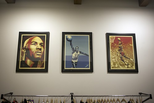 Shepard Fairey x Michael Jordan x Upper Deck - Hall Of Fame Tribute Series Prints