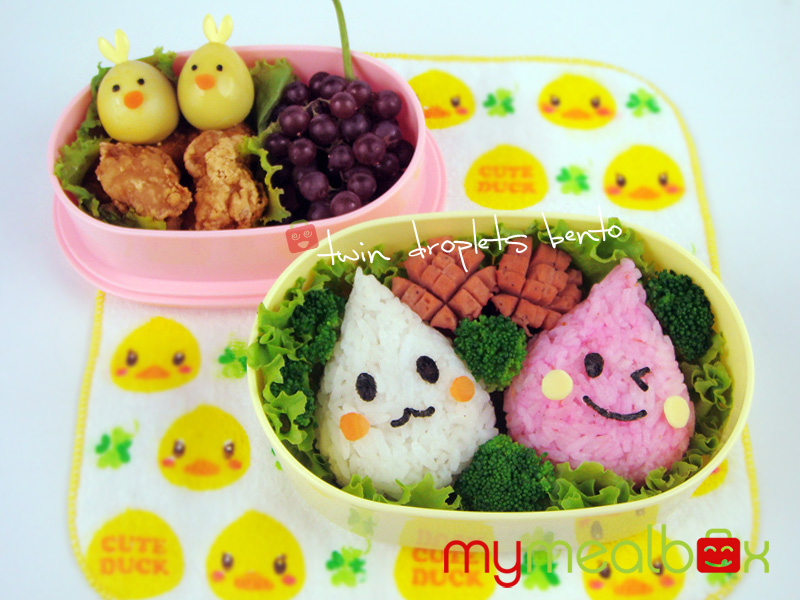Twin droplets bento