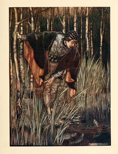 019-La serpiente blanca- Snowdrop & other tales 1920- Grimm-Ilustrada por Rackham
