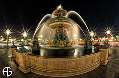 Fontaine des mers (A.G. Photographe) Tags: longexposure sky paris france monument water statue clouds french eau nightshot concorde bp nuage franais hdr placedelaconcorde foutain anto xiii longueexposition d700 baladesparisiennes fonainedesmers jetdeauciel 16mmnikonfisheye hdr9raw