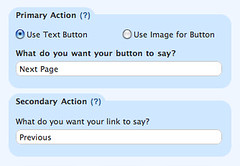 Page Button Settings