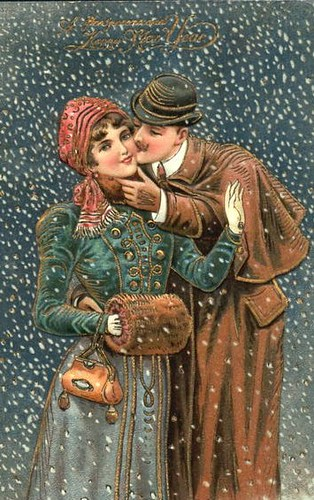 snow - kissing