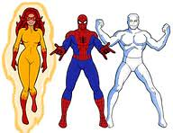 Spiderman and his amazing friends! (burakki62) Tags: spiderman iceman firestar amazingfriends