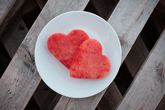 I Love Watermelon (nophoto4jojo) Tags: valentinesday love heart fruit watermelon healthy food red wood lines shapes pallet plate fujifilm x100t activeassignmentmonthly