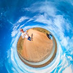 Desert South of Broken Hill (Serendigity) Tags: polar selfie sky car 360 desert australia newsouthwales brokenhill au