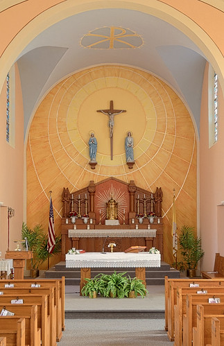 Saint Mary's Roman Catholic Church, in Fieldon, Illinois, USA - sanctuary