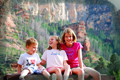 Sedona slide rock kids giggling