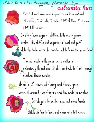 how to fabric flowers
