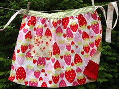 strawberries apron back