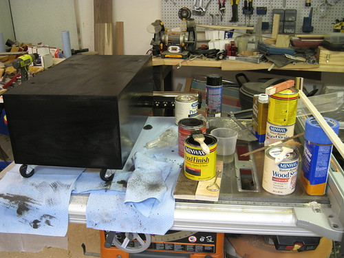Minwax stains and related materials, and my stained planer base