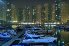 Dubai Marina (jandudas) Tags: night nikon asia asien dubai view d70 uae east emirates arab middle hdr photomatix 3exp platinumphoto    zia grouptripod top20travelpix
