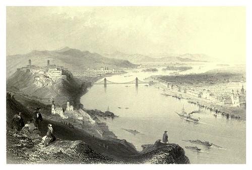 028-  Ciudades de Buda y Pest en 1844