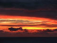 A sudden elemental sword (shastadaisy~) Tags: ocean sky clouds sunrise fire dawn magicunicornverybest