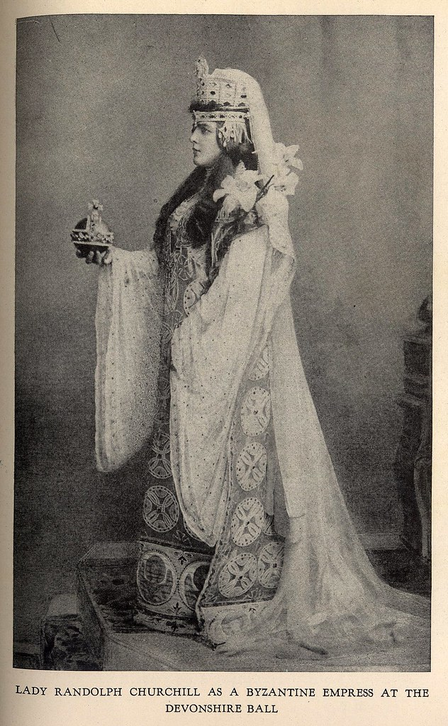 Lady Churchill at Devonshire Ball in Byzantine Empress costume by Worth