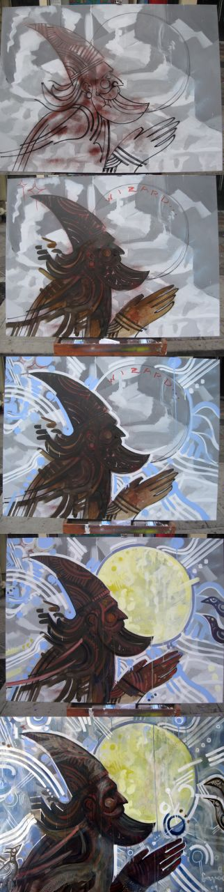 Wizard Live Painting in steps