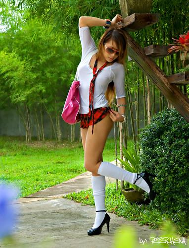 Sexy Schoolgirl 3.... (peterjaena) Tags: sexy fashion glamour nikon