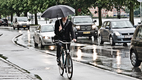 Well-Dressed Umbrella Cycling