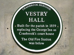 Photo of George Inn, Cranbrook grey plaque