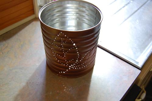 Our tin can lanterns!!
