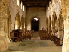 Nave from chancel - All Saints Burton Dassett