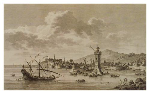 005- Vista de la ciudad de Metelin-Voyage pittoresque de la Grèce 1782