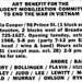 Advertisement for benefit show at Paula Cooper, The New York Times, 1968