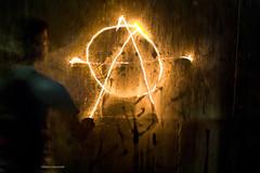 The Anarchist (davcevski) Tags: street old uk school light music rock wall punk macedonia hardcore anarchy draw mk ligher skopje