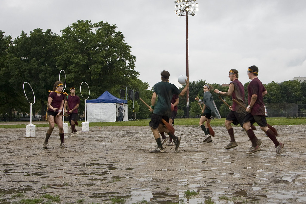 Quidditch in the rain
