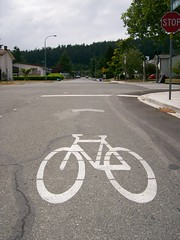 Sharrows on San Juan Ave near Shelbourne