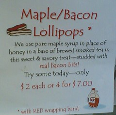 Maple/Bacon Lollipops