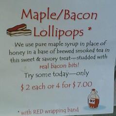 Maple/Bacon Lollipops