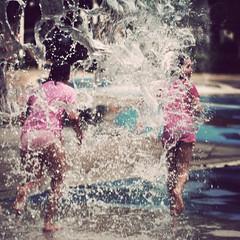 Run! (Kerrie McSnap) Tags: water kids children nikon mood child atmosphere running splash townsville waterpark d60