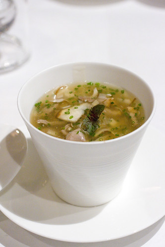 Foie gras Chawan-mushi with duck scallion sauce
