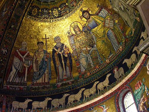 Apse mosaic in Santa Maria in Trastevere