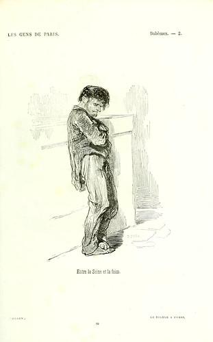 003-Bohemios- entre el Sena y el hambre-dibujo de Gavarni