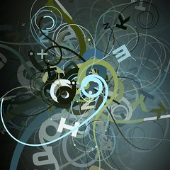 tentacles.17 (mark knol) Tags: flowers blue abstract green art dark mark flash curls tribal generative swirl generated tentacles actionscript knol twirls as3 markknol