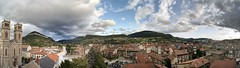 Millau 17-07-09-8573-4-5-6-7-8-9-0 (sweenpole2001) Tags: bridge cloud holiday france rooftop clouds rooftops pano viaduct hdr millau autostitich ciew