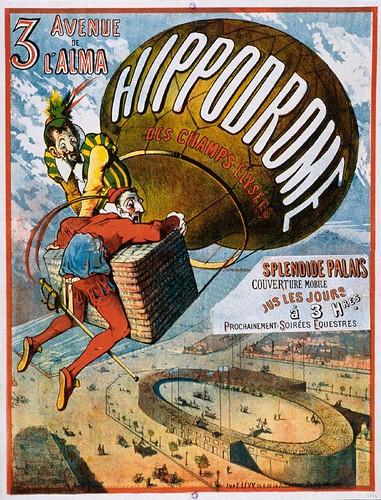 003- Anuncio del Hipodromo de los Campos Eliseos- Principios siglo XIX