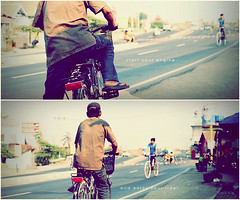 start your engine.. and enjoy your ride! (khaniv13) Tags: street people bicycle 35mm nikon diptych ride enjoy f18 afs centraljava pemalang d40x khaniv13