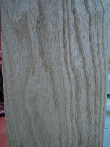 red oak plank closeup